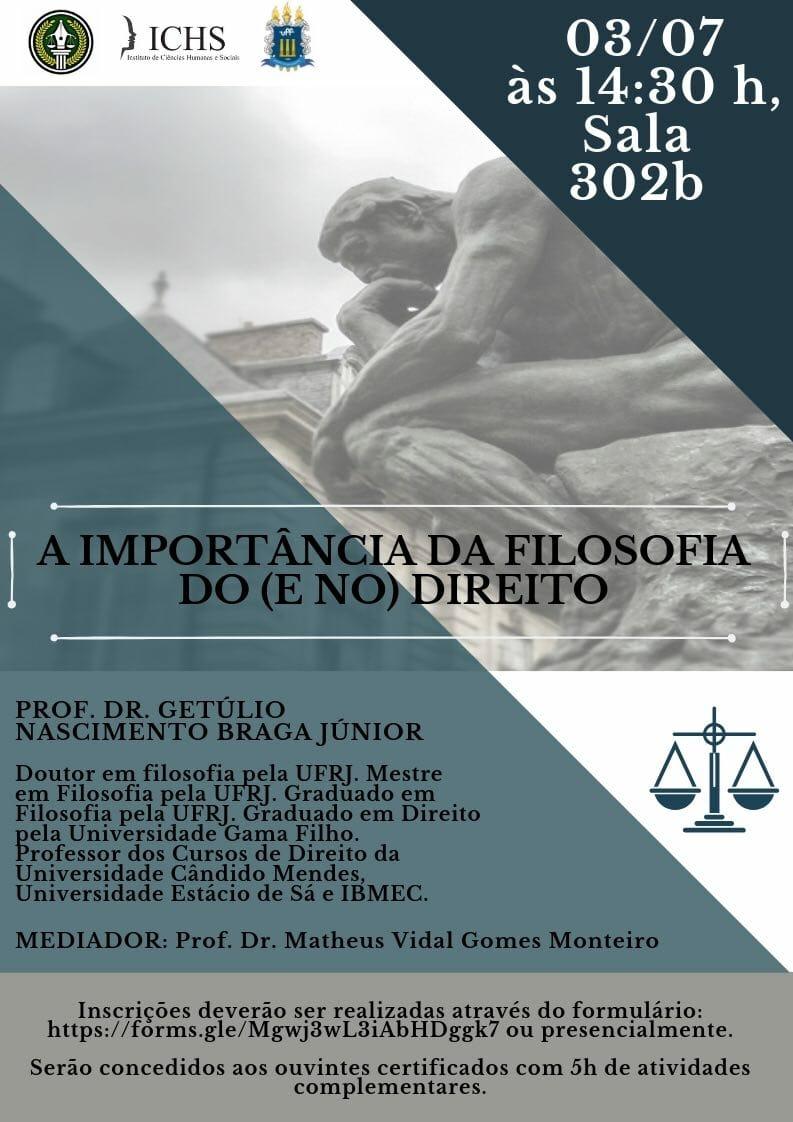 Palestra: A Importância da Filosofia do (e no) Direito