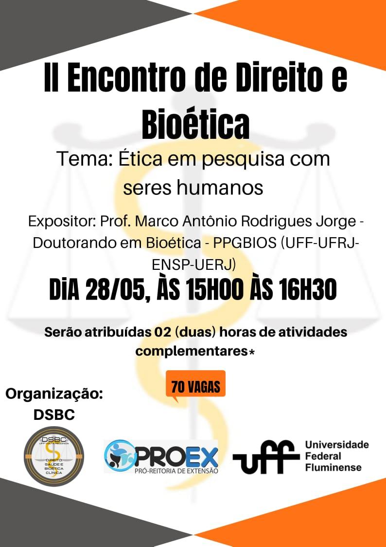 II Encontro de Direito e Bioética